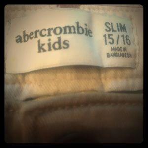 Boys Abercrombie Skinny Khakis